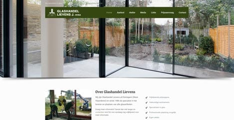 Nieuwe website voor Glashandel Lievens J. BVBA